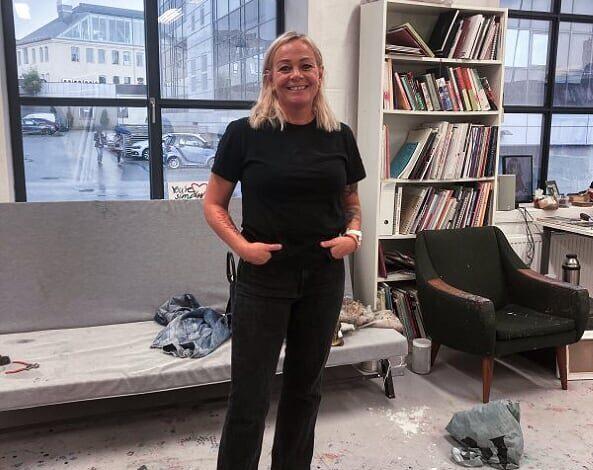 Natasja flyttet inn i atelierhuset på TOU i 2014. Foto: Stian Robberstad.
