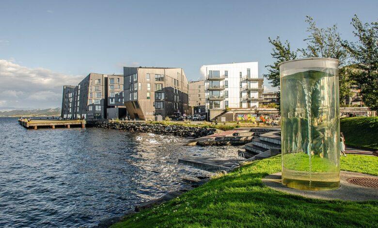 La oss få flere badeplasser i området mellom Sjøparken og Bryggerikaien, foreslår Federico Juàrez Perales (H).